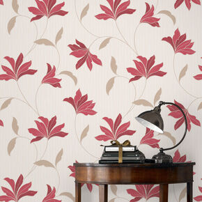 Alannah Red and Gold Wallpaper, , large