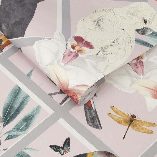 Perch Blush Wallpaper, , large