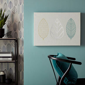 Scandi Leaf Trio Wall Art, , large