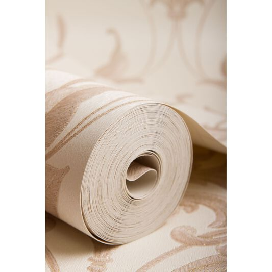 Oxford Pearl and Beige Wallpaper, , large