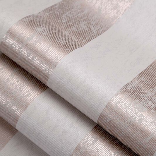Mercury Stripe Rose Gold Wallpaper, , large