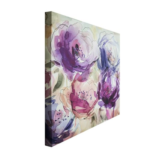 Stitched Spring Blooms Printed Canvas Wall Art, , large