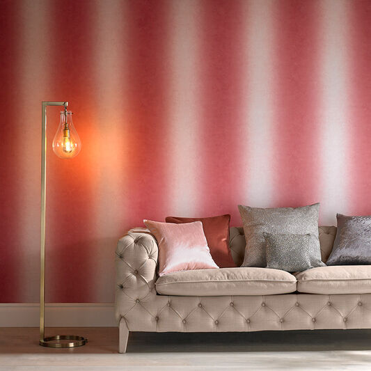 Ombre Stripe Blossom Wallpaper, , large