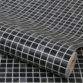 Aroura Tile Black and Silver, , large