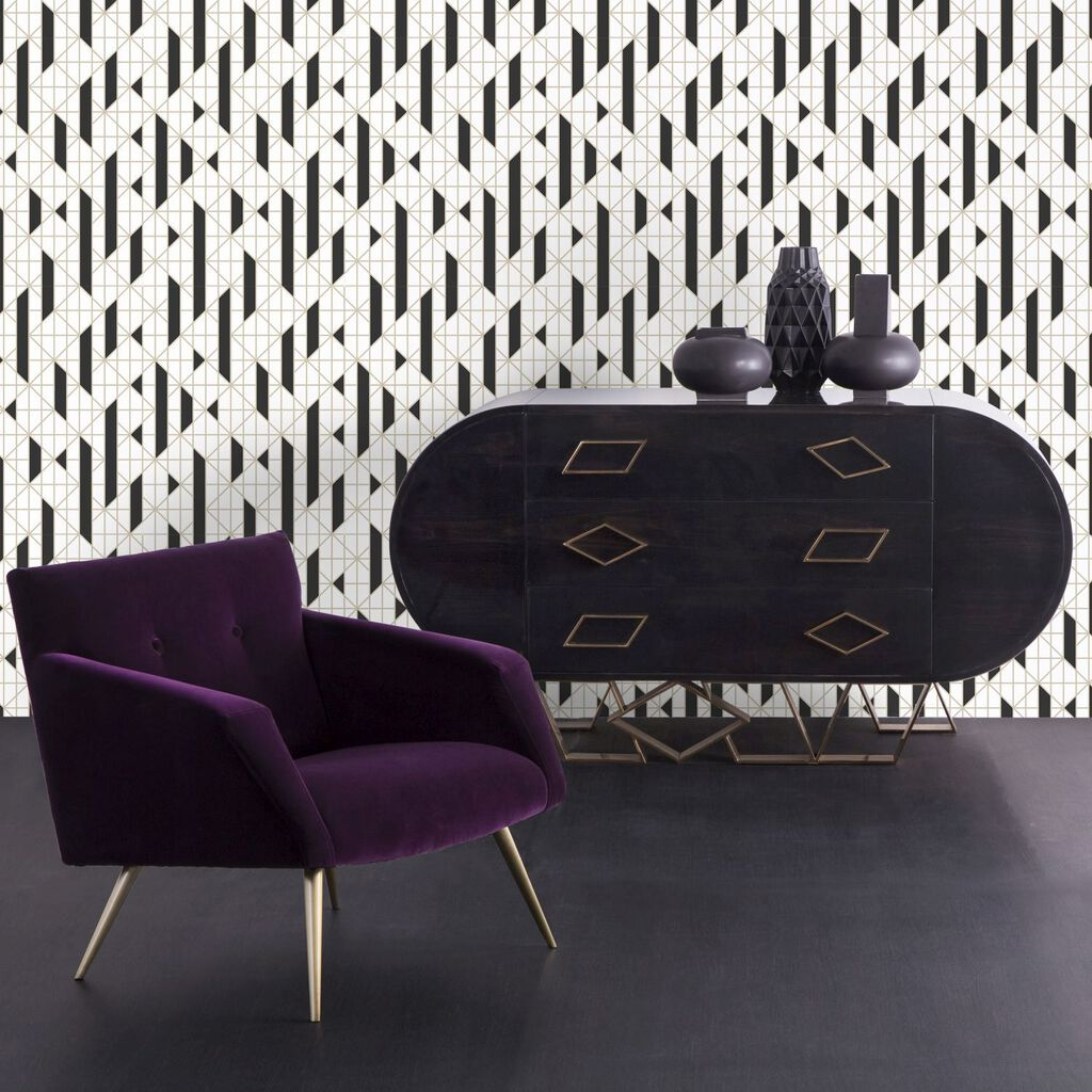 linear tapete schwarz wei schwarze tapeten graham brown. Black Bedroom Furniture Sets. Home Design Ideas