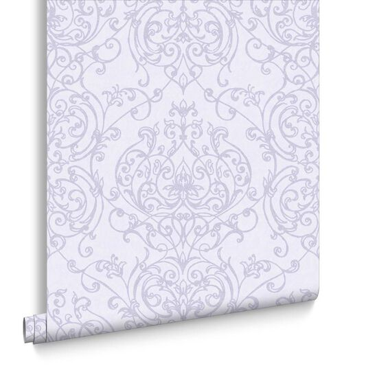 Empress Damask Lilac Wallpaper, , large