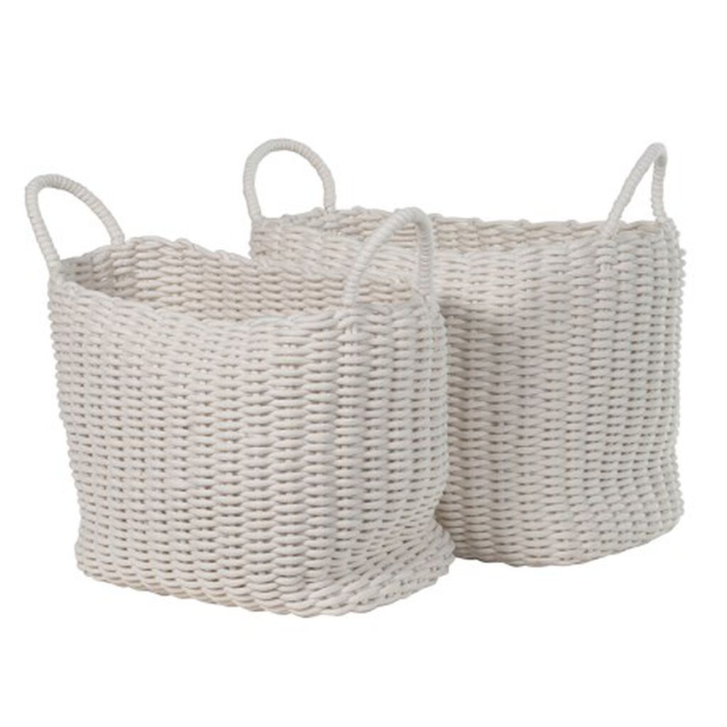 Set Of 2 Chunky Weave Baskets, , large