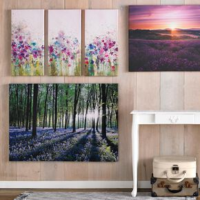 Bluebell Landscape Printed Canvas Wall Art , , large
