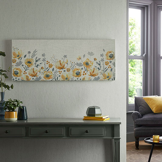 3 flowers NEW Large Contemporary Gold Colour Metal Wall Art Decor Picture