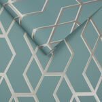 Archetype Mint & White Gold Behang
