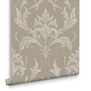 Oxford Gold and Natural Wallpaper, , large