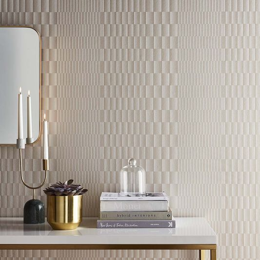Symmetry Soft Gold Wallpaper, , large