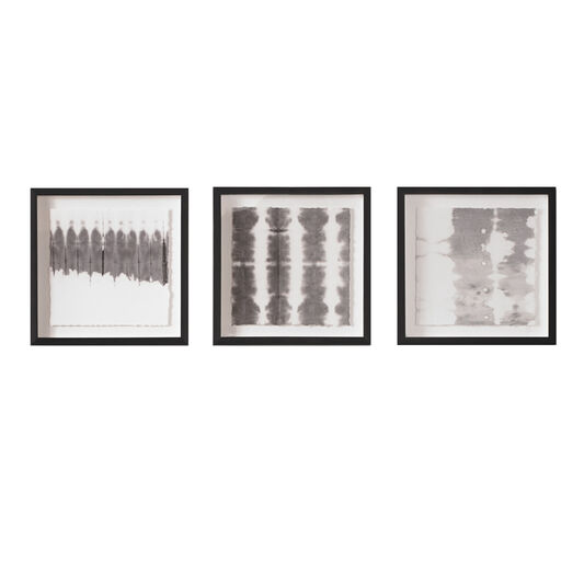 Monochrome Tie Dye Framed Wall Art Prints, , large