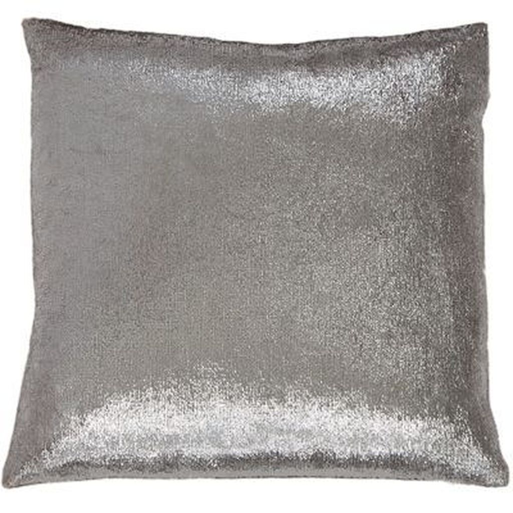Silver Shimmer Metallic Pillow, , large