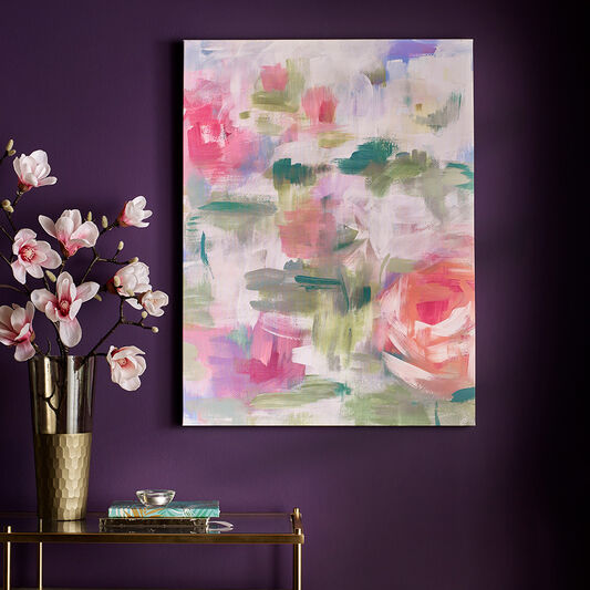 Abstract Blossoms Printed Canvas Wall Art, , large