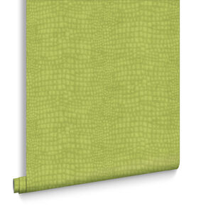 Crocodile Green Behang, , large