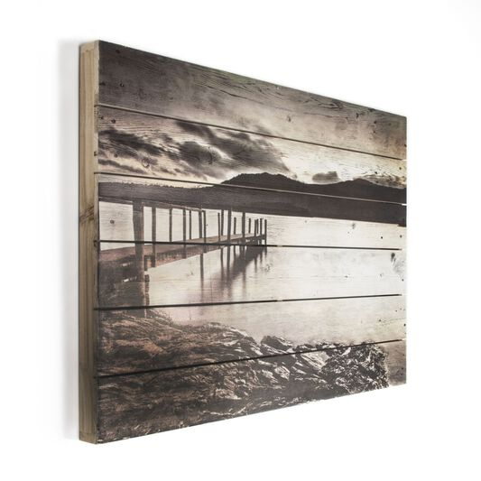 Tranquil Jetty Print On Wood Wall Art - GrahamBrownUS