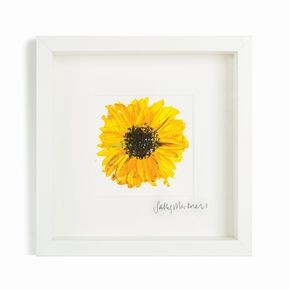 Sally Mackness Sunflower Hand Painted Framed Wall Art, , large