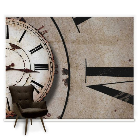Clock Face Ready Made Mural, , large