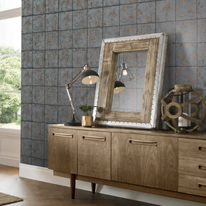 Oxidised Tile Rust Wallpaper , , large