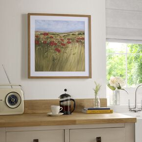 Poppy Meadow Framed Wall Art Print, , large