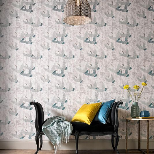 Crane Green Wallpaper, , large