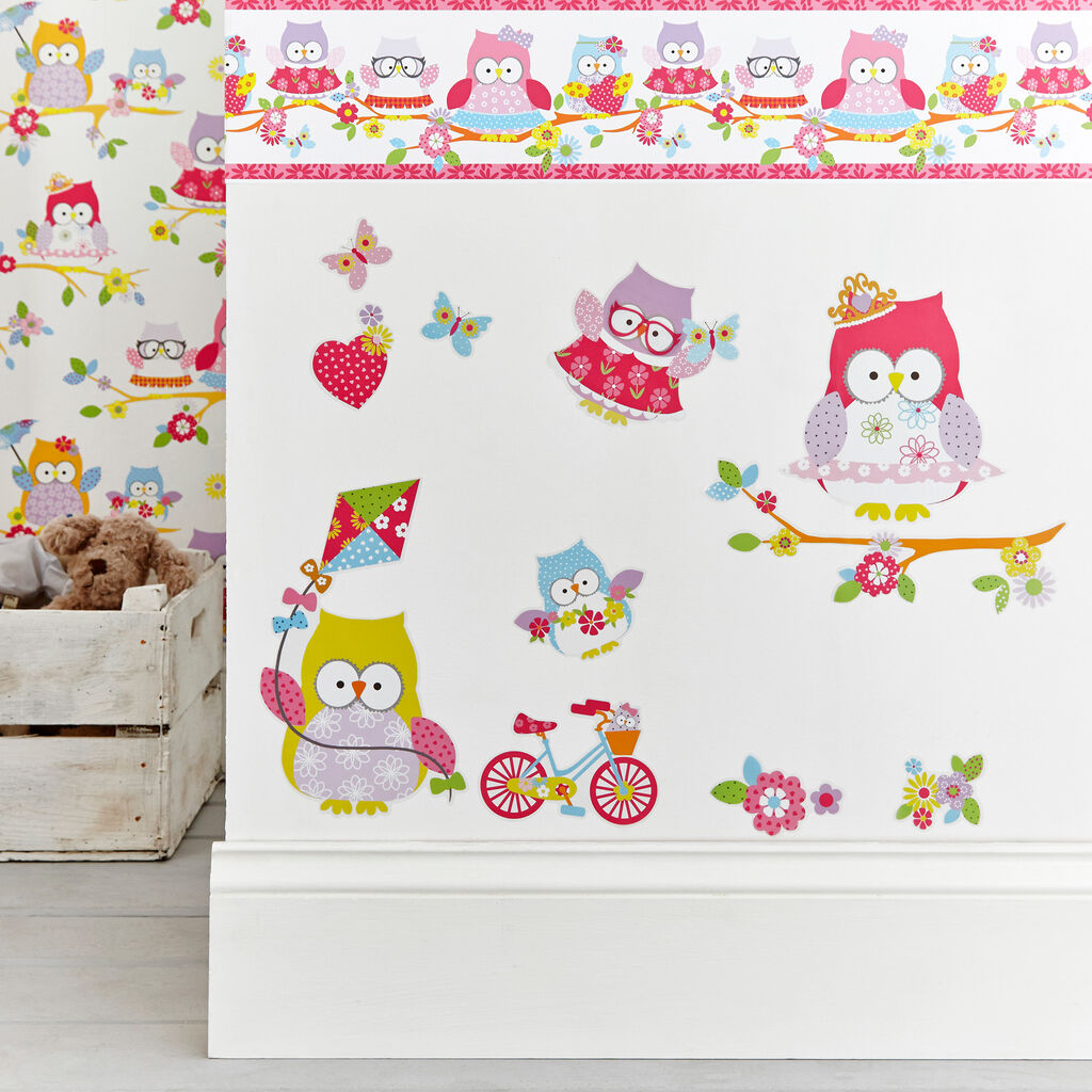 Stickers Muraux Olive The Owl, , large
