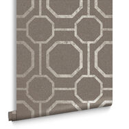 Sashiko Taupe Wallpaper, , large