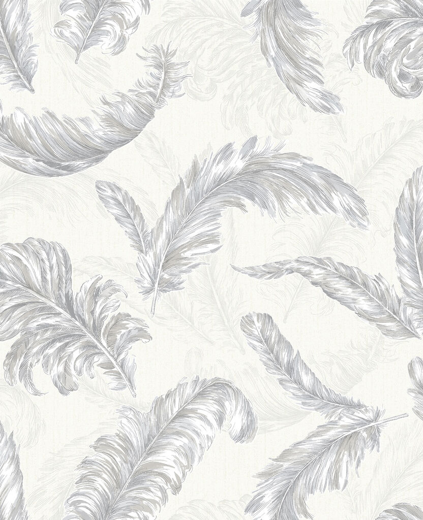 Previous Gilded Feather White And Silver Wallpaper
