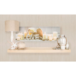 Love Led Printed Canvas Wall Art, , large