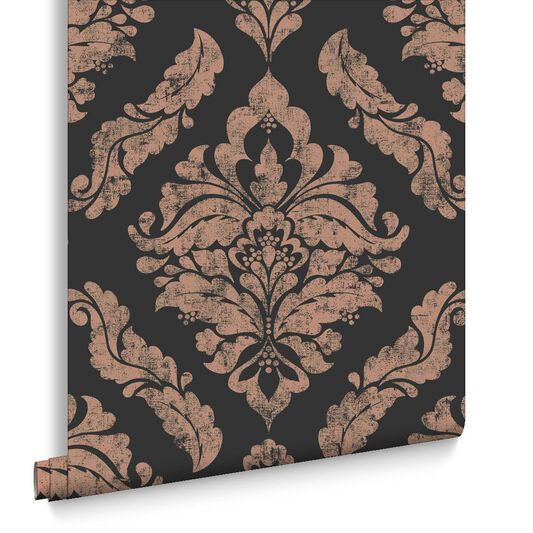 Damaris Black Wallpaper, , large