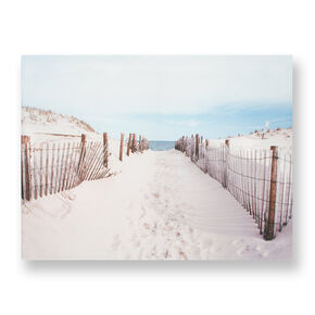 Walk To The Beach Printed Canvas Wall Art, , large