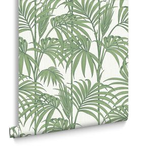 Honolulu Palm Green Wallpaper, , large