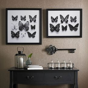 Botanical Butterflies Framed Print Wall Art, , large