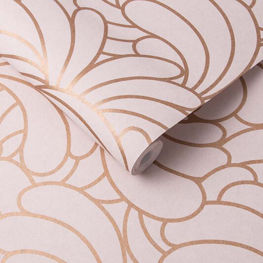 Bananas Copper Blush Wallpaper, , large