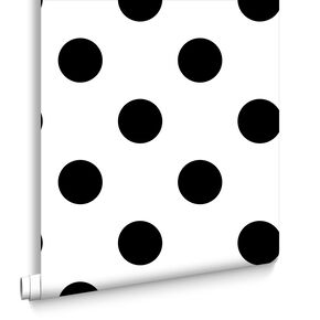 Dotty Black Wallpaper, , large