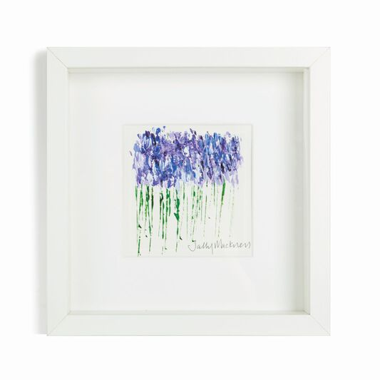 Sally Mackness Bluebell Meadow Hand Painted Framed Wall Art, , large