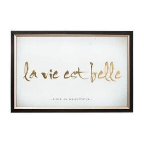 La Vie Est Belle Metallic Framed Wall Art , , large