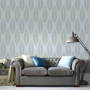 Lucia Duck Egg Wallpaper, , large