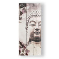 Buddha Print On Wood Wall Art , , large