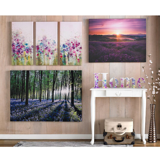 Watercolour Meadow Printed Canvas, , large