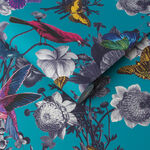 Jardin Teal Wallpaper