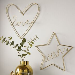 Gold Wish Metal Wall Art , , large