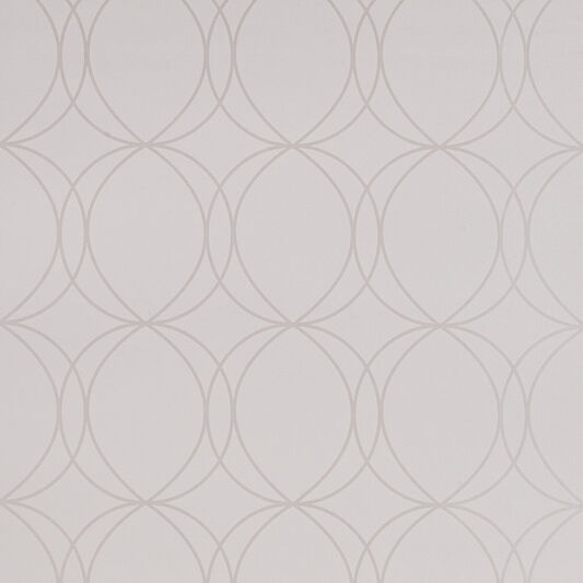 Savoy White and Mica Wallpaper, , large