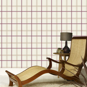 Plaid Russet Wallpaper, , large