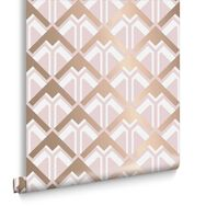 Beau Pink & Rose Gold Wallpaper, , large