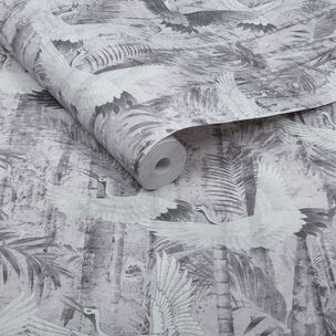 Crane Grey Wallpaper, , large