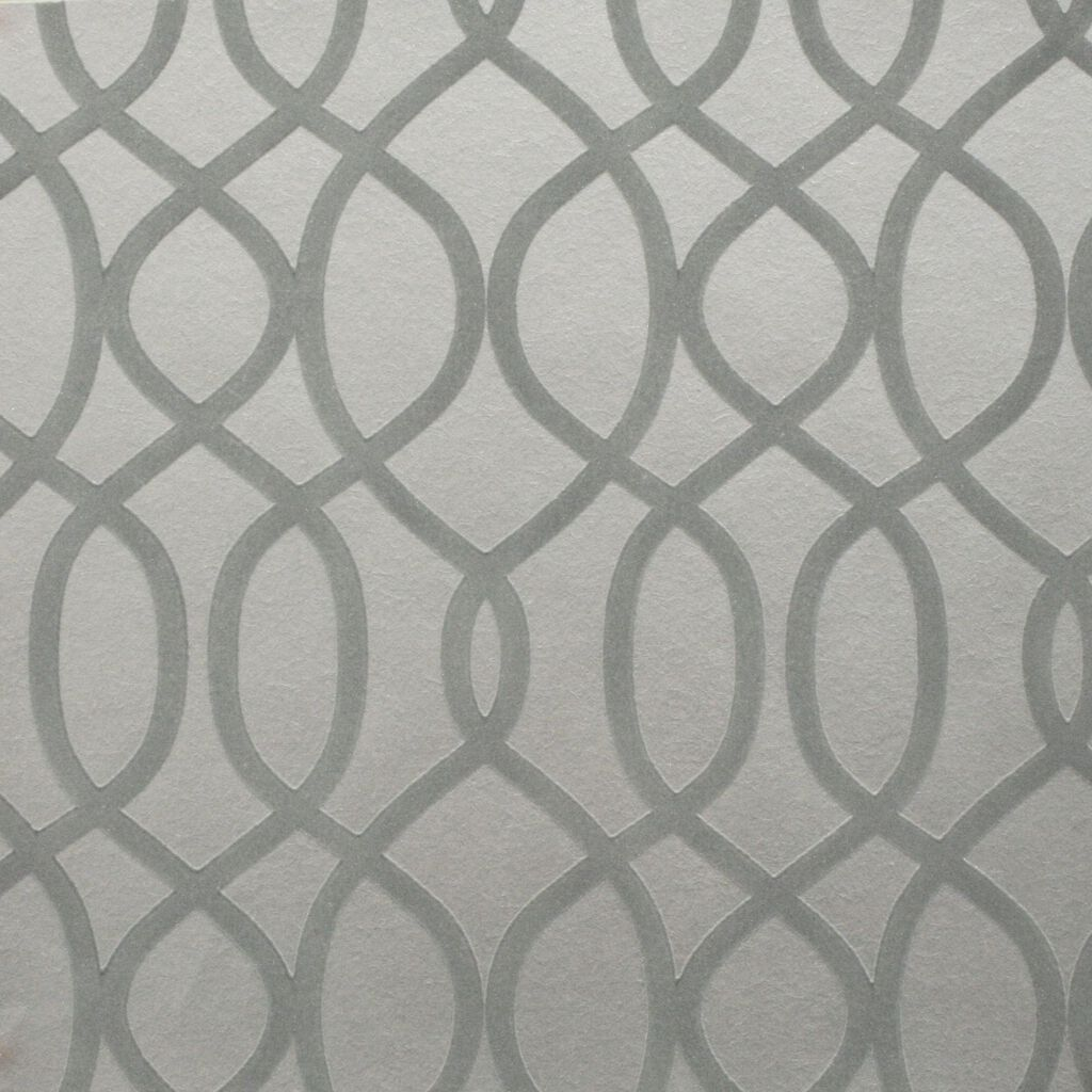 Knightsbridge Flock Pale Grey Wallpaper
