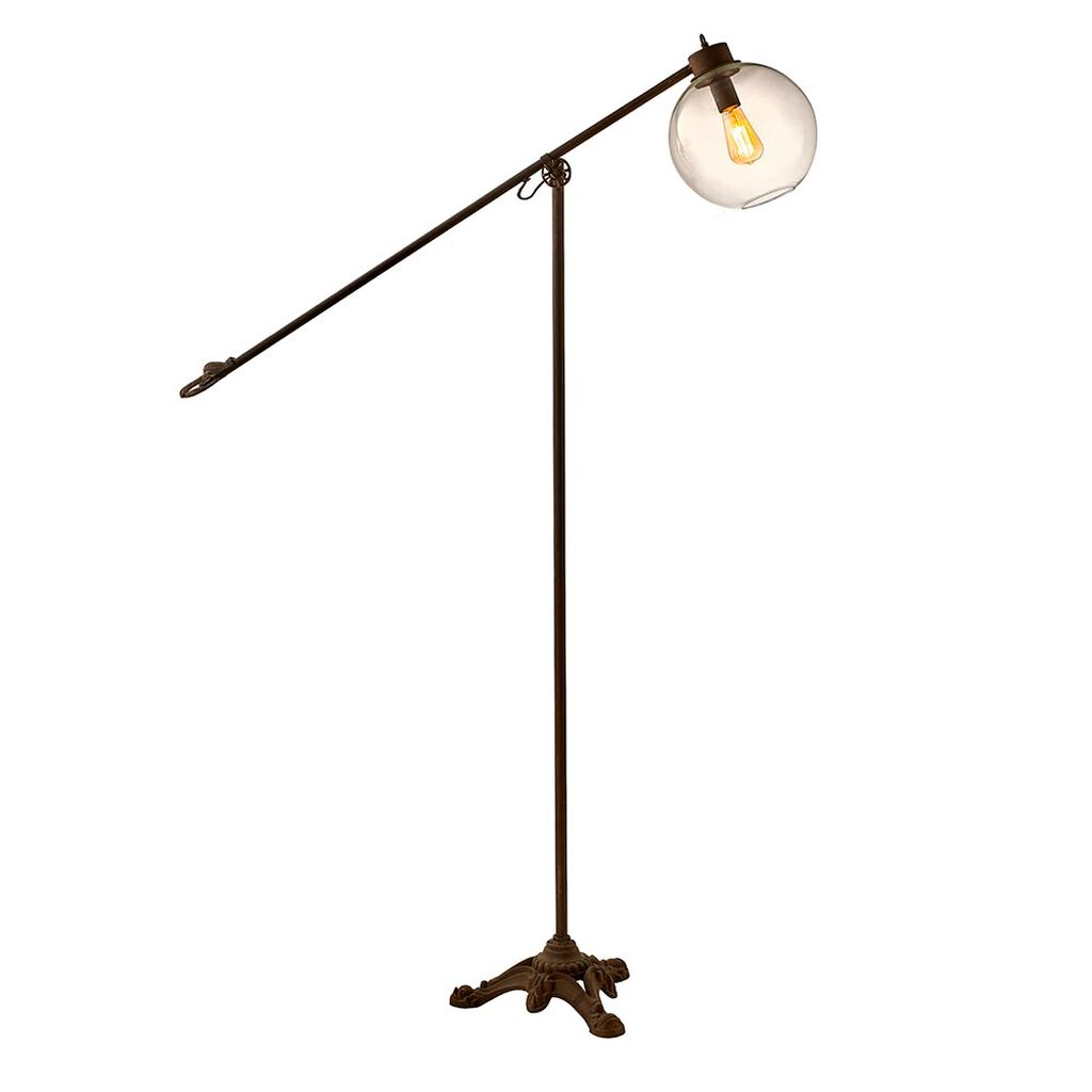 Antiqued Metal Floor Lamp, , large