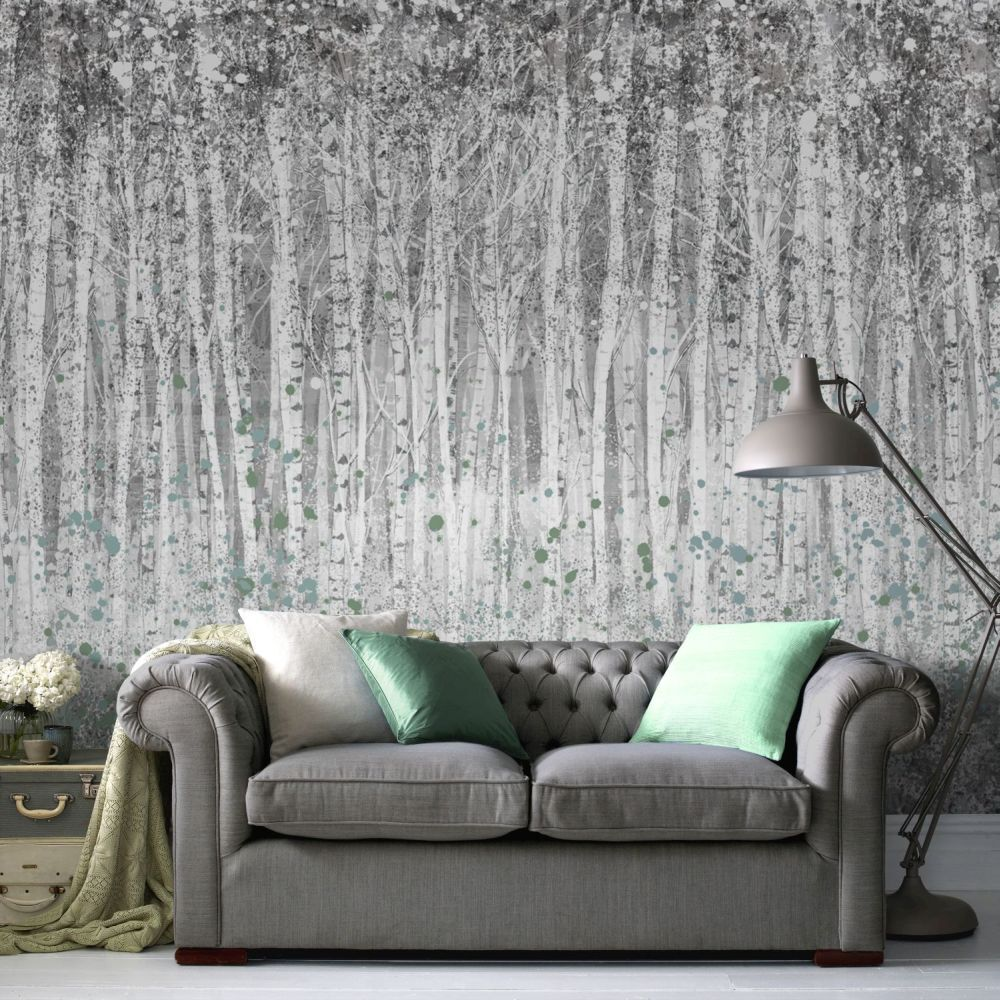wall murals uk bedroom, kitchen \u0026 living room wall muralslarge couture painterly woods ready made mural,
